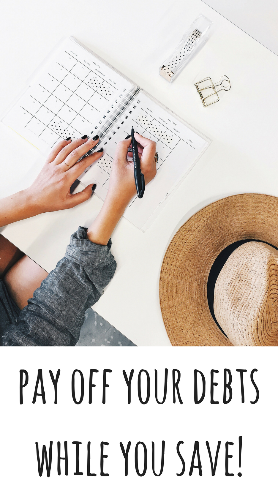 Pay off your debts while you save. It's often suggested you should clear your debts before paying into a savings account but I'm making a case for saving while you pay towards your debts. This article shows you how.