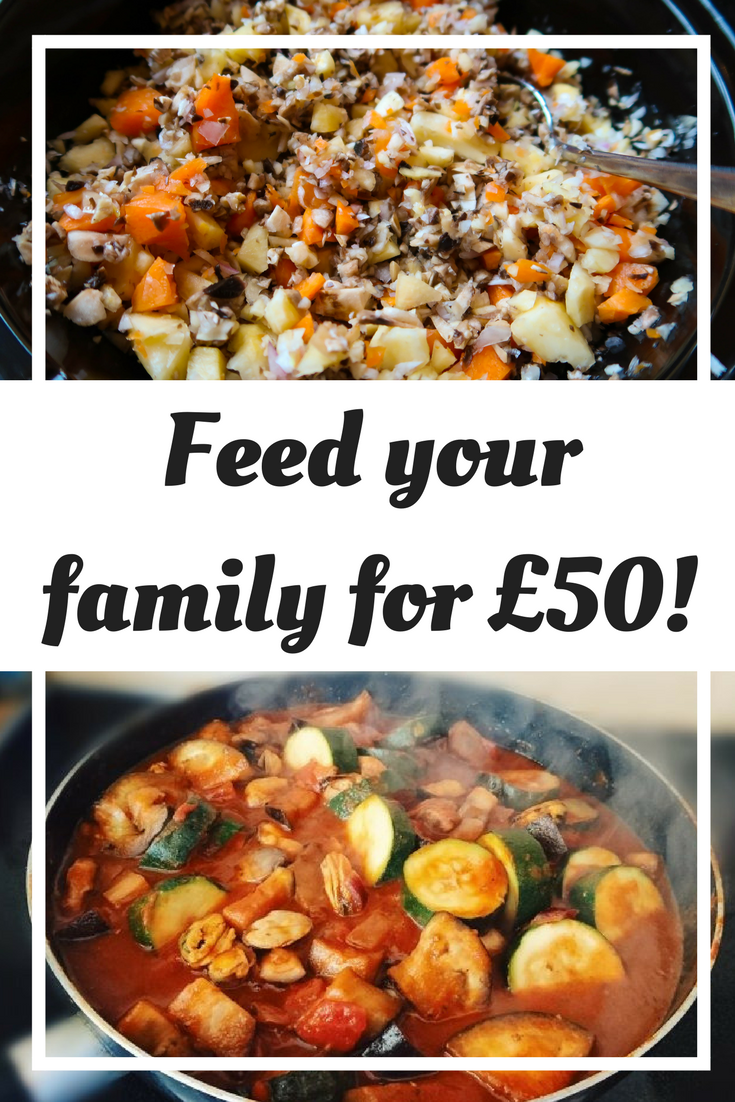 Here are some easy and healthy meal ideas to feed you family for £50
